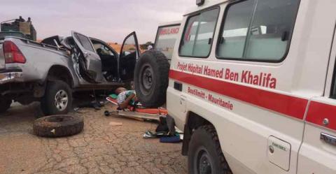 أحد الحوادث في محيط بوتلميت ـ المصدر أحمدو ولد بلال طبيب بمستشفى حمد