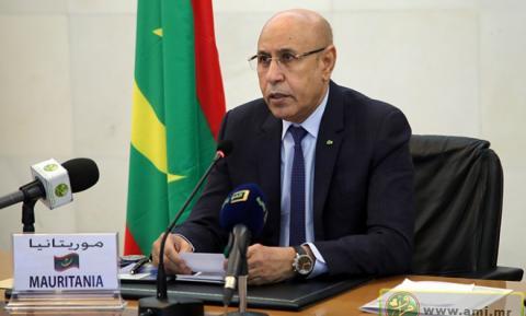 الرئيس الموريتاني  محمد ولد الشيخ الغزواني ( المصدر وما )