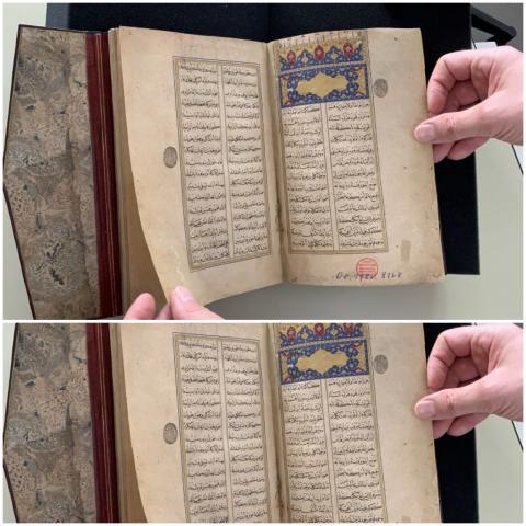 """مخطوطة مثنوي """"ليلى والمجنون"""" الموجودة في ألمانيا (الأناضول)"""