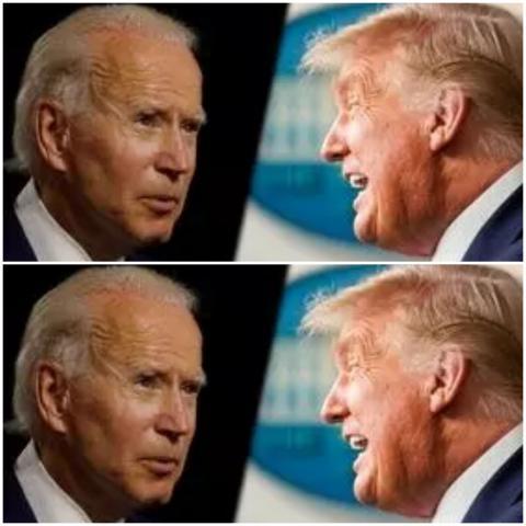 المرشح الديمقراطي لرئاسة الولايات المتحدة جو بايدن والرئيس دونالد ترامب. © رويترز