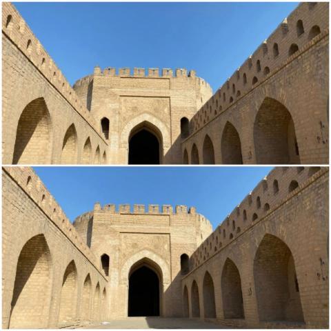الباب الأوسط أحد 4 أبواب بناها الخليفة العباسي المستظهر بالله (الجزيرة)