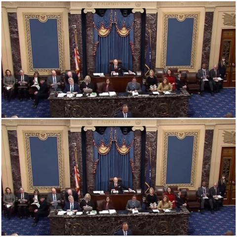 مجلس الشيوخ سيصوت اليوم على مدى دستورية محاكمة ترامب وهو خارج السلطة (الجزيرة)