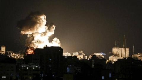 جانب من آثار قصف إسرائيلي على غزة منتصف مايو الماضي