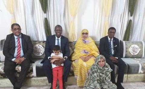 المفوض السامي لمنظمة استثمار نهر السنغال سميغا حمت غاني في منزل الراحل سيدي آمين ولد أحمد شلل