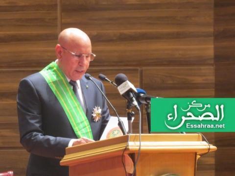الرئيس محمد ولد الشيخ الغزواني( المصدر ارشيف الصحراء)