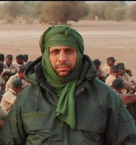 المقدم موسى ولد حمادي قائد التجمع الجهوي الرابع للحرس في لبراكنه