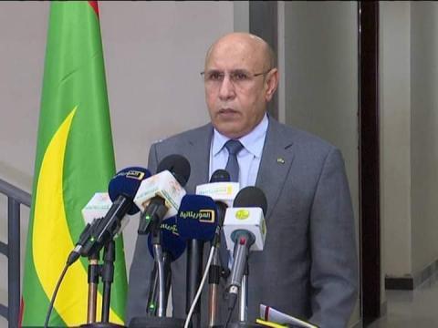 الرئيس محمد ولد الشيخ الغزواني( المصدر الصحراء)