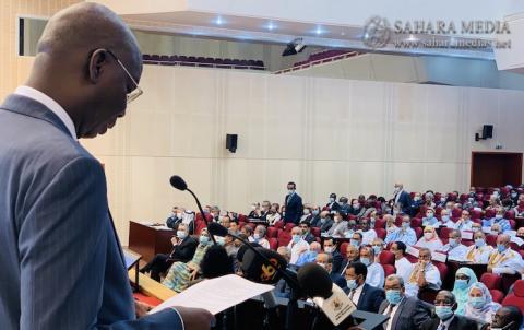 وزير الاقتصاد عثمان كان متحدثاً أمام الشركاء الفنيين والماليين صباح اليوم (صحراء ميديا)