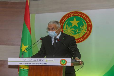 وزير الثقافة والشباب والرياضة والعلاقات مع البرلمان المختار ولد داهي