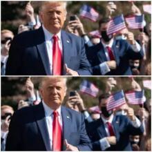 """ترامب يعرض تسجيلا لانسحابه من مقابلة لصالح برنامج """"60 دقيقة"""" قبل ساعات من مناظرته الأخيرة مع بايدن © أ ف ب"""