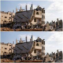 طائرات الاحتلال الإسرائيلي تعمدت تدمير عدد كبير من المنازل والأبراج السكنية في قطاع غزة (رويترز)