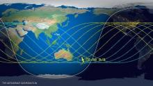 الصاروخ سيخترق غلاف الأرض الجوي فوق منطقة قرب نيوزيلندا