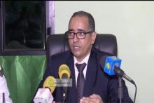 وكيل الجمهورية في ولاية انواكشوط الغربية القاضي أحمد عبد الله المصطفى، خلال النقطة الصحفية (وما)