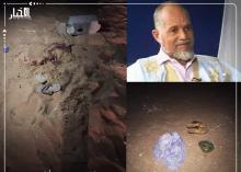 آثار جريمة القتل التي وقعت الليلة في توجنين بولاية نواكشوط الشمالية