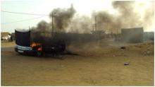 صورة من الحادث تداولها المدنون