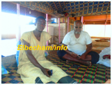 صورة التاجر محمد ولد الباز والضحية همت ولد ابراهيم الذي أصيب في الساق( البشام )